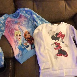 Girls Sz 6 Disney (very soft) sweatshirts